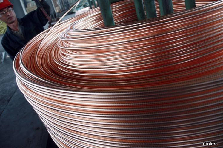 Copper up, supported by easing trade and Middle East tensions