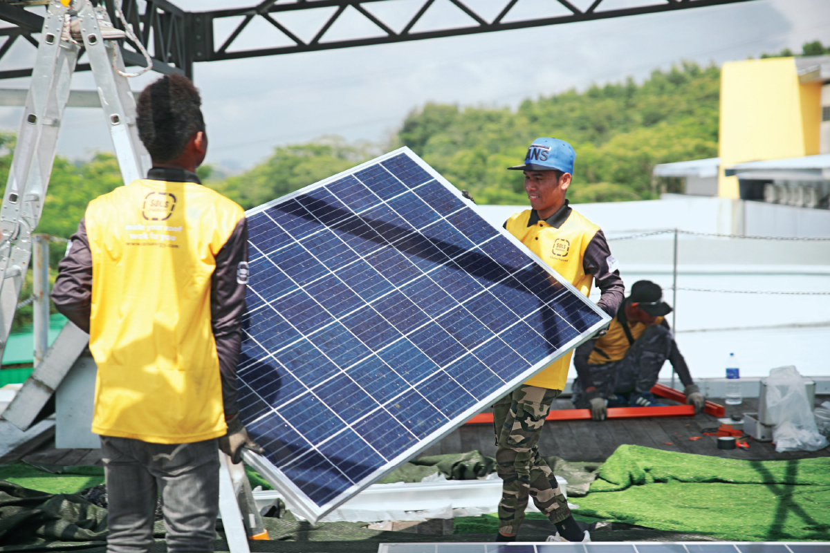 SOLS Energy, which installs solar power systems, also equips underprivileged youth with technical skills in the industry (photo by SOLS Energy)