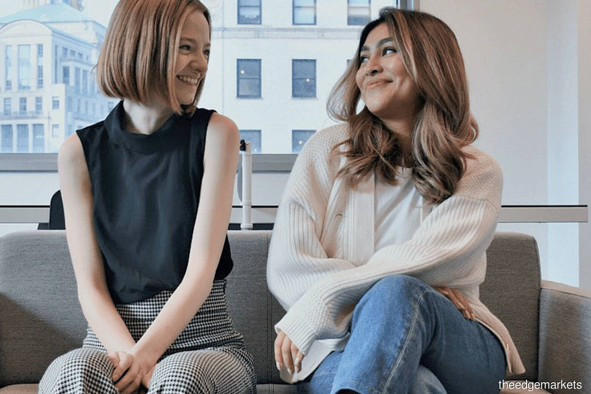 """""""We remember being looked up and down as if our bodies held more value than our brains. There's a lot of abuse within the VC world, beyond just microaggressions."""" - Campbell (left, with Vaidya)"""