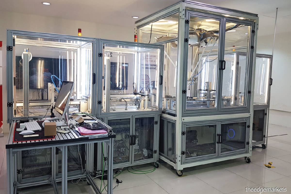 MSF's lab has a variety of automation equipment set up for visitors to have a visual understanding of how the technology can be implemented