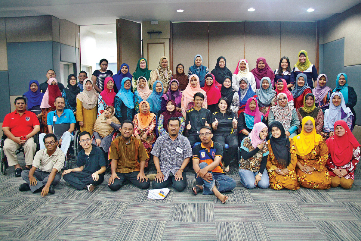 R.I.S.E. participants ... empowered for entrepreneurship, they are trained to start and run their own businesses (Photo by Maybank Foundation)