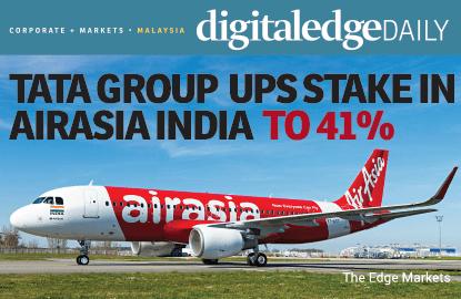 塔塔集团增持印度亚航至41%