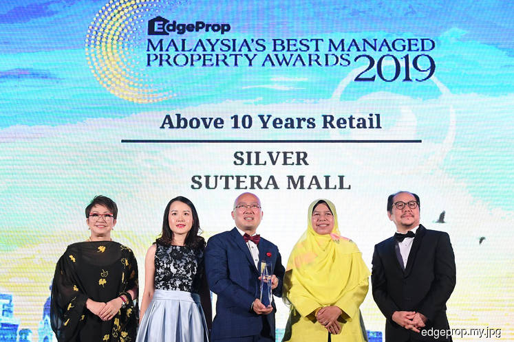 Sutera Mall scores double wins at EdgeProp Msia's Best Managed Property Awards 2019