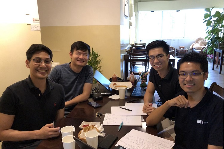 From left: DatsPro Technologies chief business development officer Nabil Rasyad Abdul Jalil, Liew, Tian and Teh.