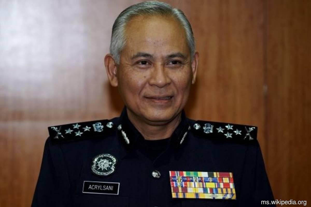Inspector-General of Police Datuk Seri Acryl Sani Abdullah Sani