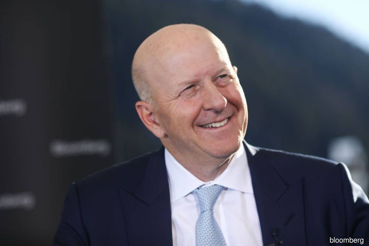 Goldman CEO David Solomon (pix) also acknowledged during the call that this huge windfall probably can't last. (Photo by Bloomberg)