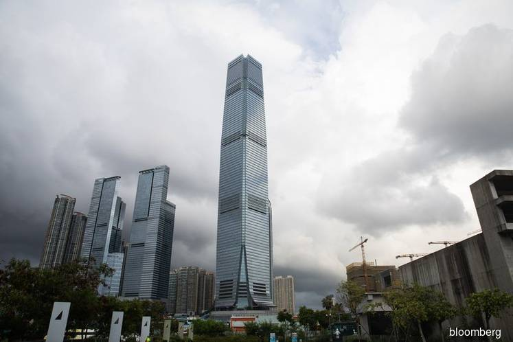 The International Commerce Centre building in Hong Kong, which houses the offices of Deutsche Bank AG