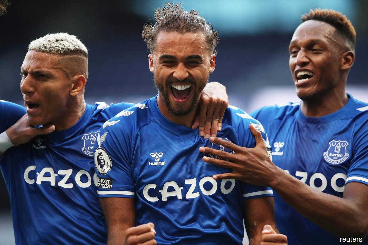 Everton break Tottenham jinx as Calvert-Lewin heads winner