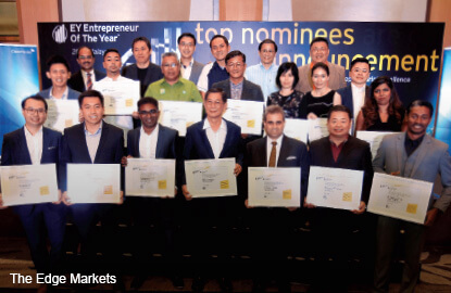 Record number of nominees for EY Entrepreneur of the Year