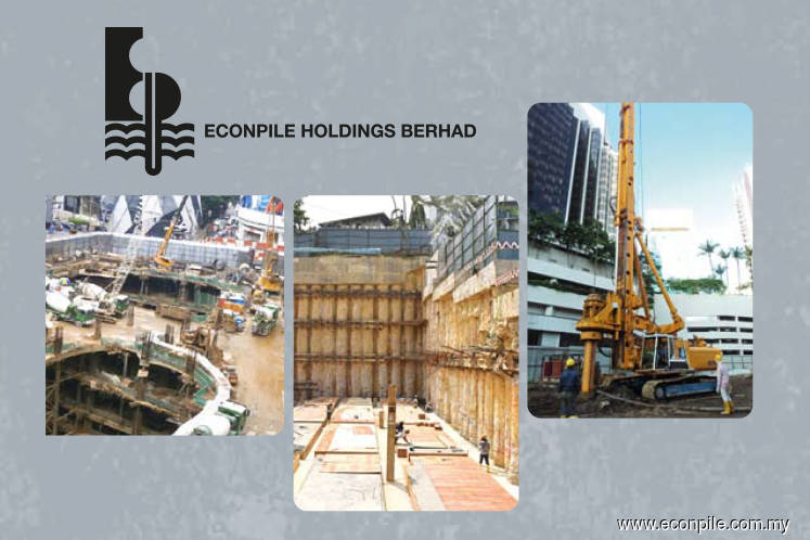 Econpile up 2.86% on bagging RM43.98m piling and substructure works contract for Tropicana Gardens