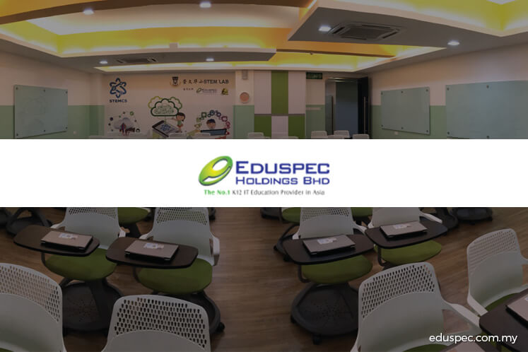 Eduspec active, up 16.67% on diversification into edutainment theme park business