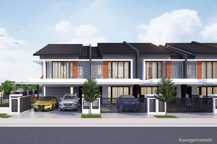 Elmina Green Three comprises 412 units of two-storey linked homes. (Picture by Sime Darby Property)
