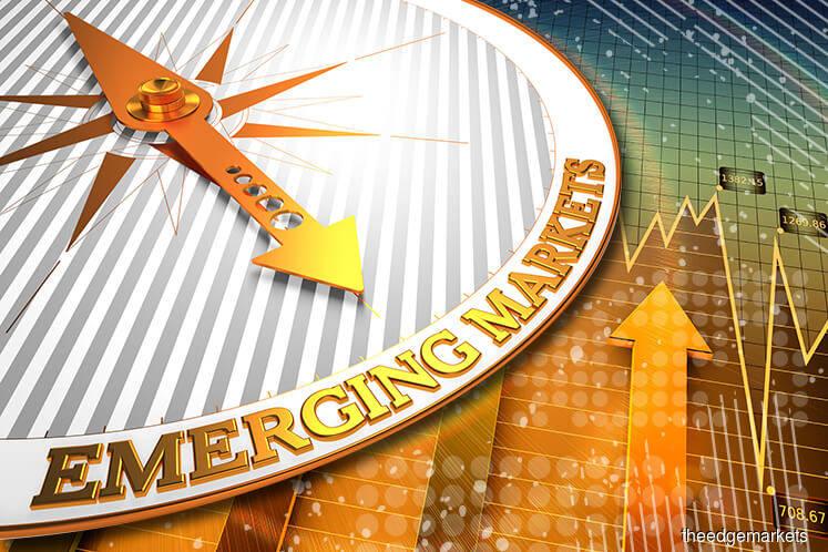 Emerging market stocks dip, debt markets stabilise