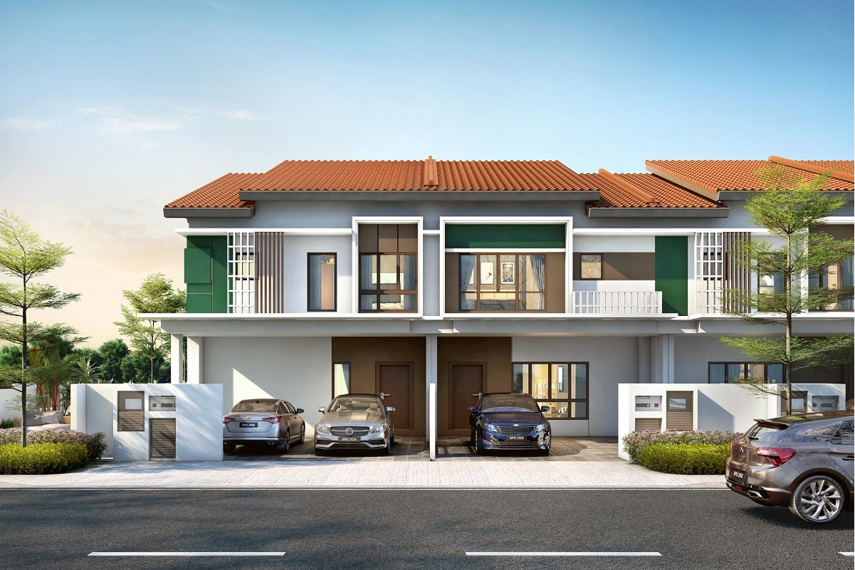 Type E of Plenum double-storey terrace homes are fitted with 4+1 bedrooms.