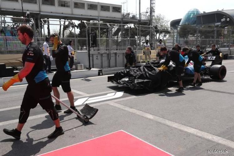 Motor Racing: Williams to seek compensation after Baku drain drama