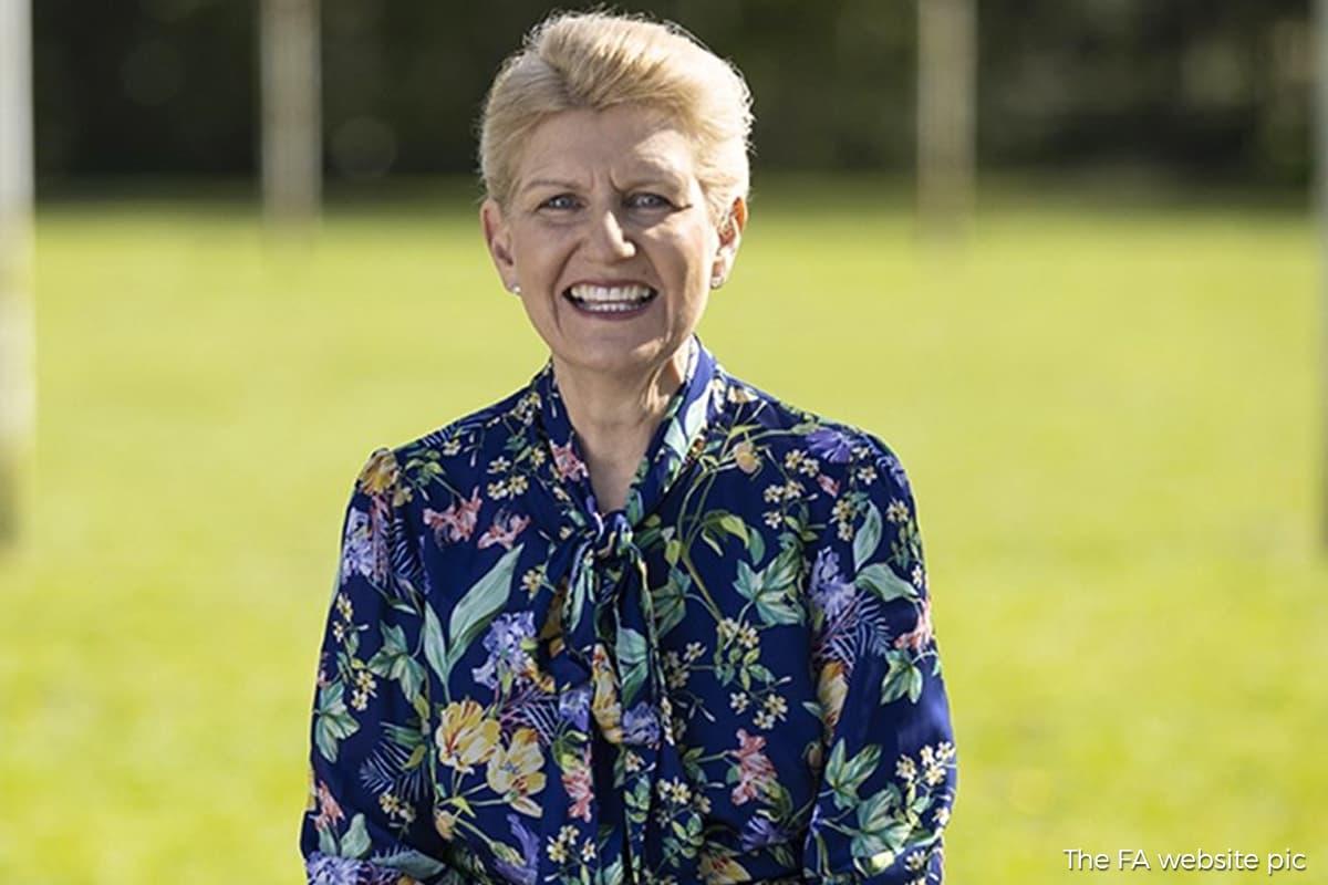 FA names Debbie Hewitt as first chairwoman