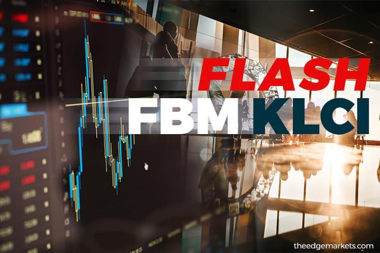 FBM KLCI settles down 15.08 points at 1,597.06 at 12:30pm