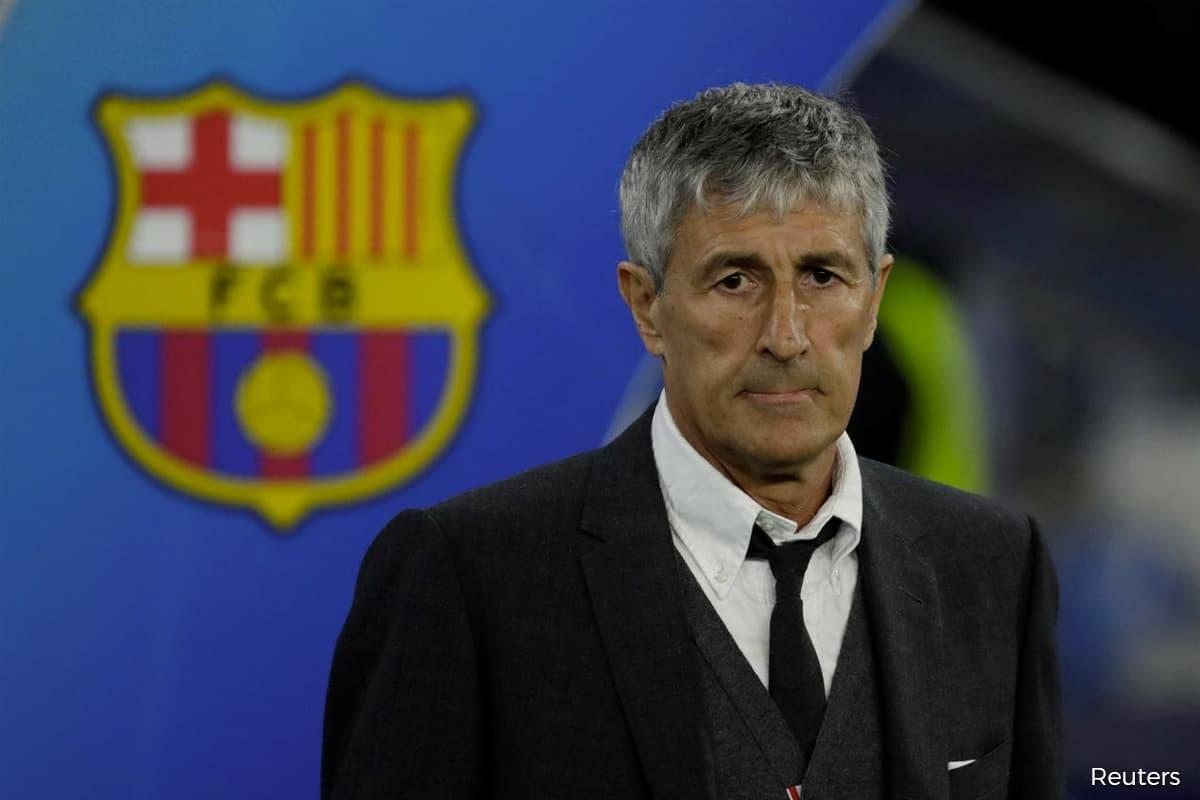 FC Barcelona sack coach Quique Setien