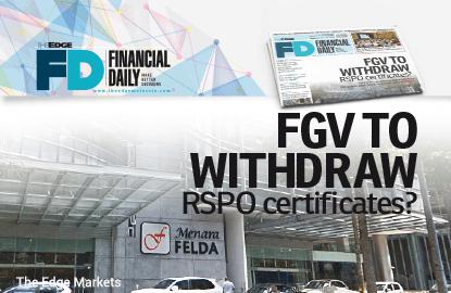 FGV拟撤销RSPO认证?