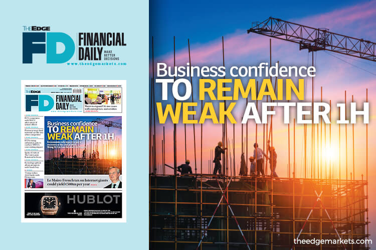 Business confidence to remain weak after 1H
