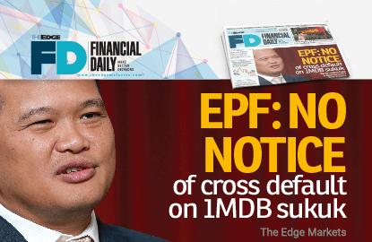 EPF:没接到1MDB回债交叉违约通知