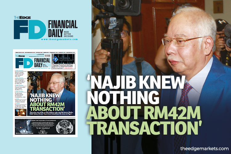 'Najib knew nothing about RM42m transaction'
