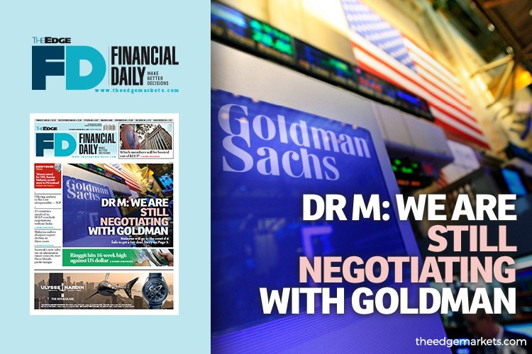 Dr Mahathir: We are still negotiating with Goldman