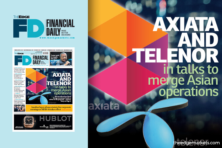 Axiata and Telenor in talks to merge Asian operations