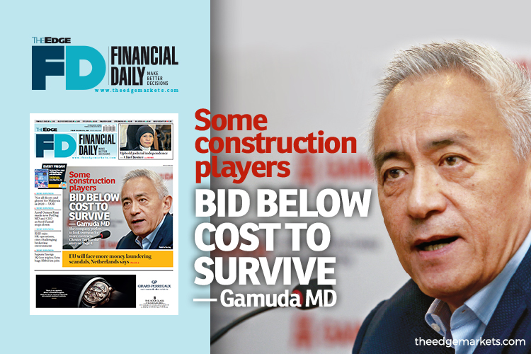 Some construction players bid below cost to survive — Gamuda