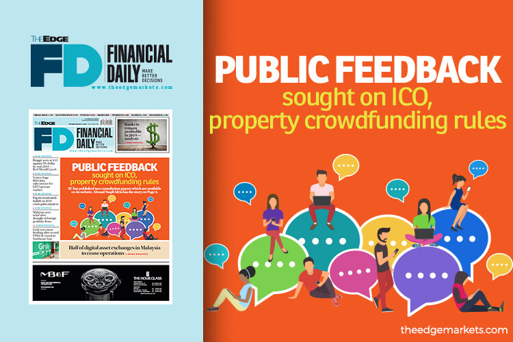 Public feedback sought on ICO, property crowdfunding rules