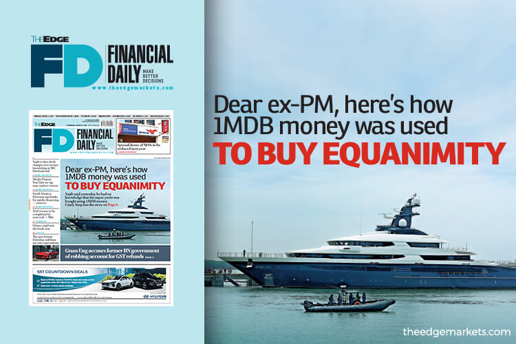 Dear ex-PM, here is how 1MDB money was used to buy Equanimity