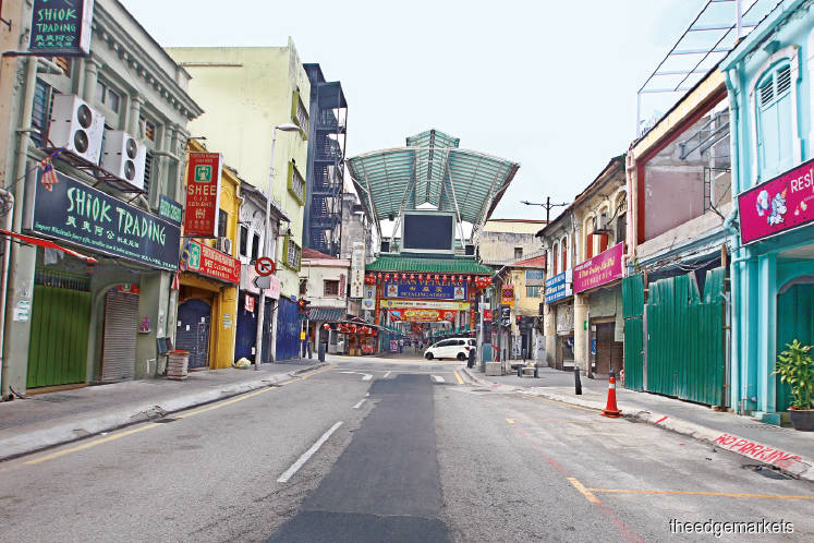 A deserted street in Kuala Lumpur as the movement control order continued yesterday. (Photo by Patrick Goh)