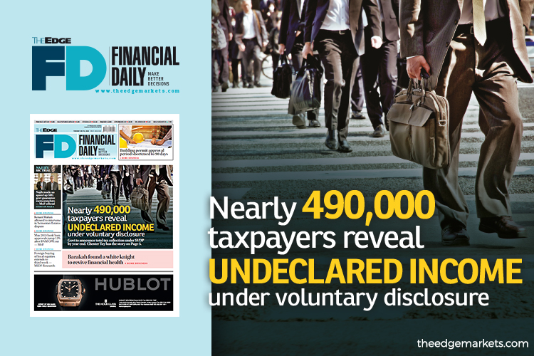 Nearly 490,000 taxpayers reveal undeclared income