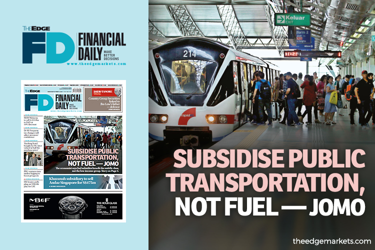 Jomo: Subsidise public transportation, not fuel