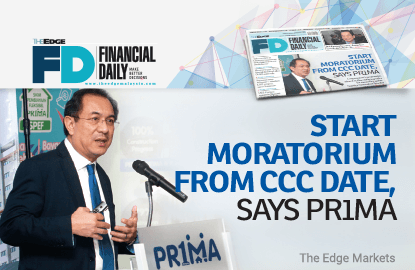 PR1MA: Start moratorium from CCC date