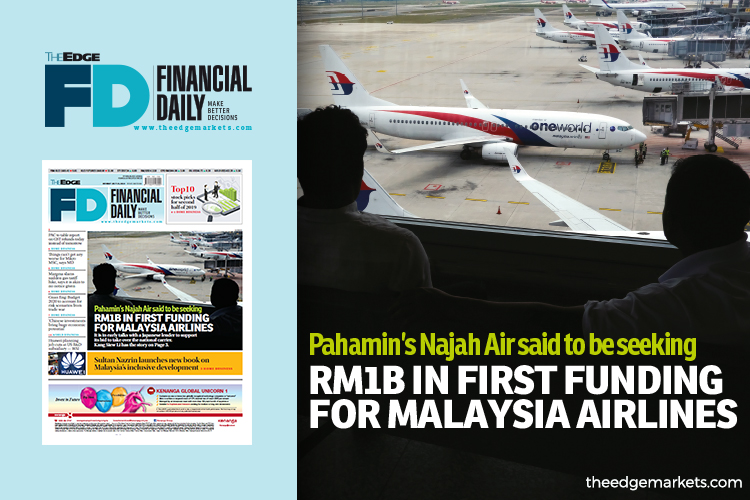 Pahamin's Najah Air said to be seeking RM1b in first funding for Malaysia Airlines
