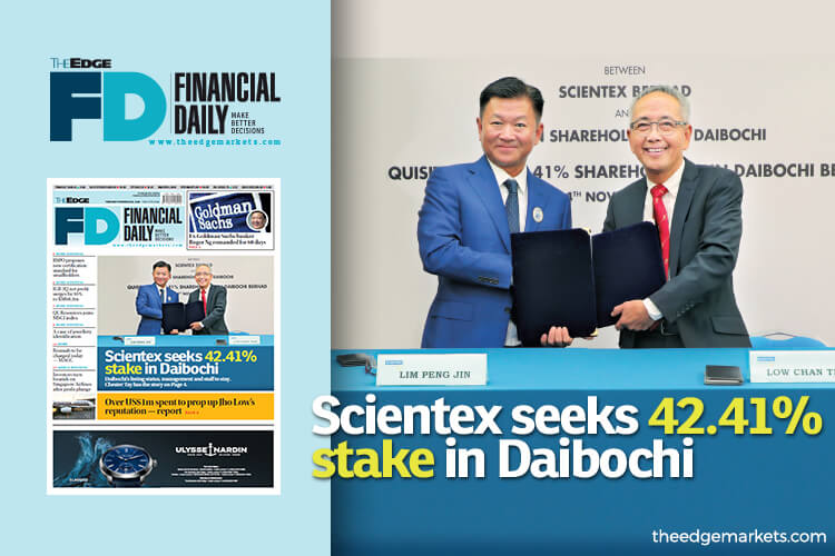 Scientex seeks 42.41% stake in Daibochi