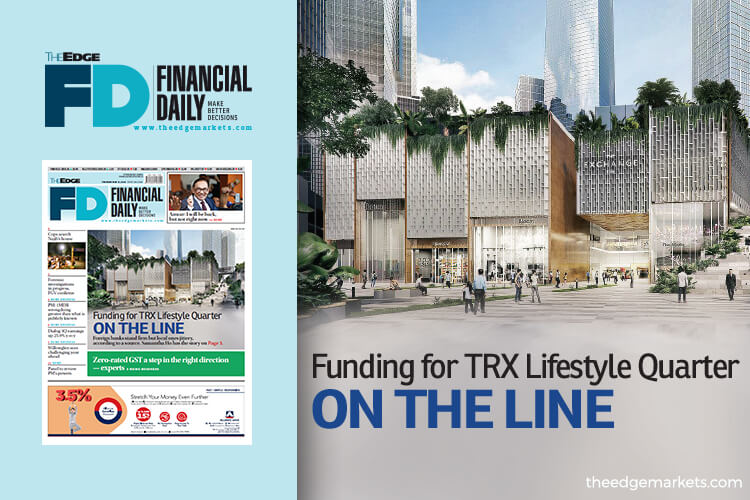 Funding for TRX Lifestyle Quarter on the line