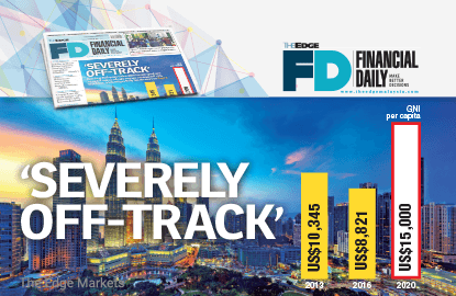 Malaysia 'severely off-track' from Vision 2020 income goal