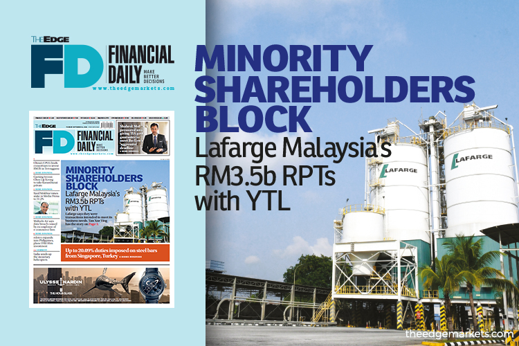 Minority shareholders block Lafarge Malaysia's RM3.5b RPTs with YTL