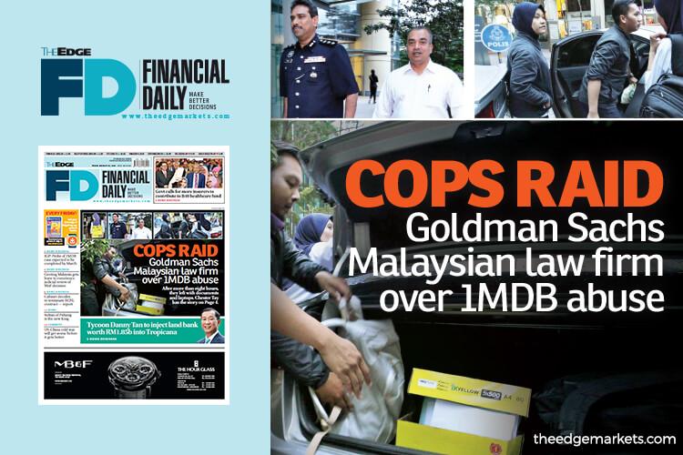 Cops raid Goldman Sachs M'sian law firm over 1MDB abuse