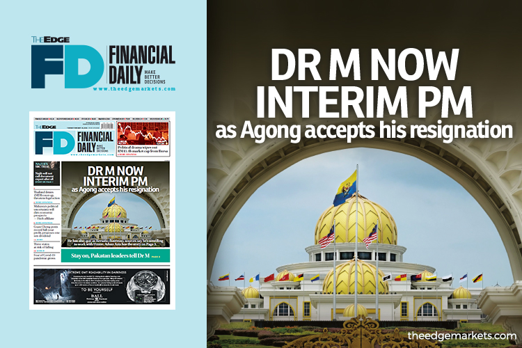 Dr M now interim PM as Agong accepts his resignation