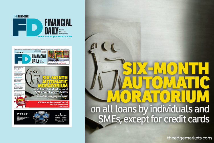 Six-month automatic moratorium on loans by individuals and SMEs