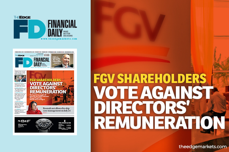 FGV shareholders vote against directors' remuneration