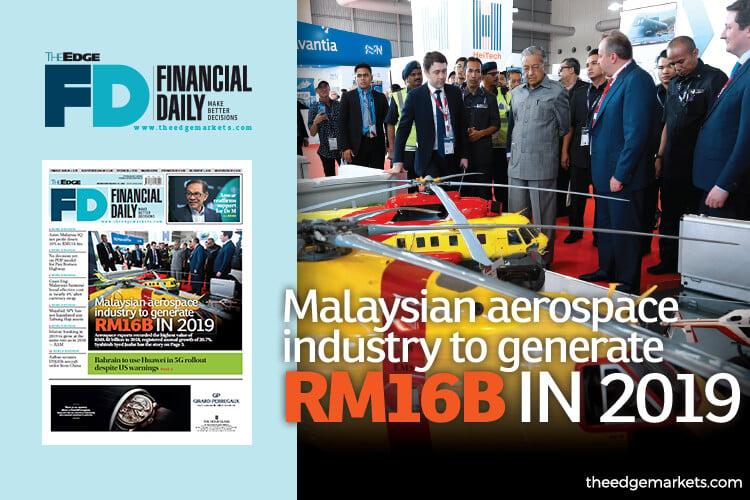 Malaysian aerospace industry to generate RM16b in 2019