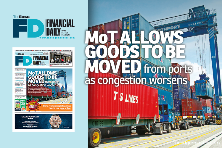 MoT allows goods to be moved from ports as congestion worsens