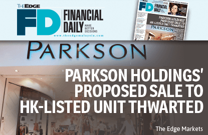 Parkson Holdings' proposed sale to HK-listed unit thwarted