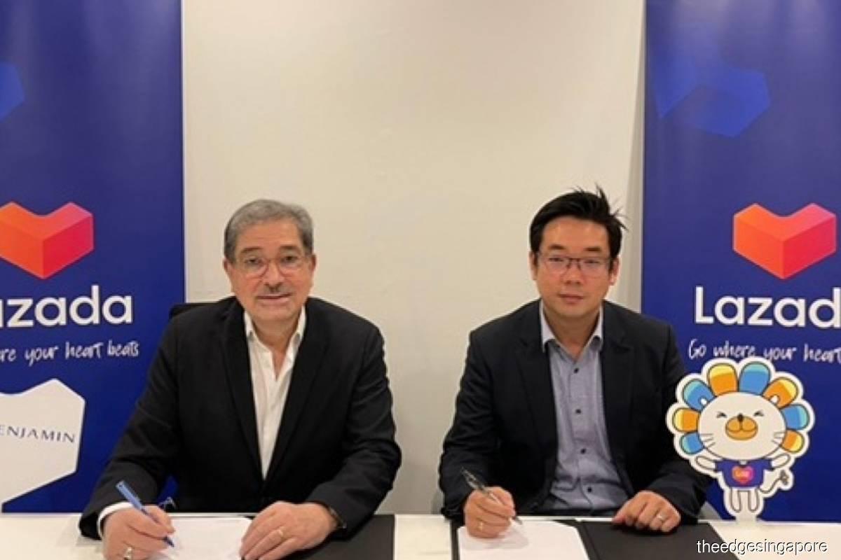FJ Benjamin,Lazada Singapore enter into partnership to boost online-offline sales