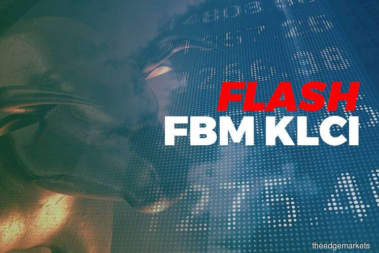 FBM KLCI up 14.42 points at 1,613.61 at 12:30pm