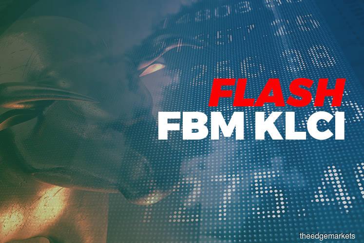 FBM KLCI down 0.05 point at 1,603.69 at 12:30pm